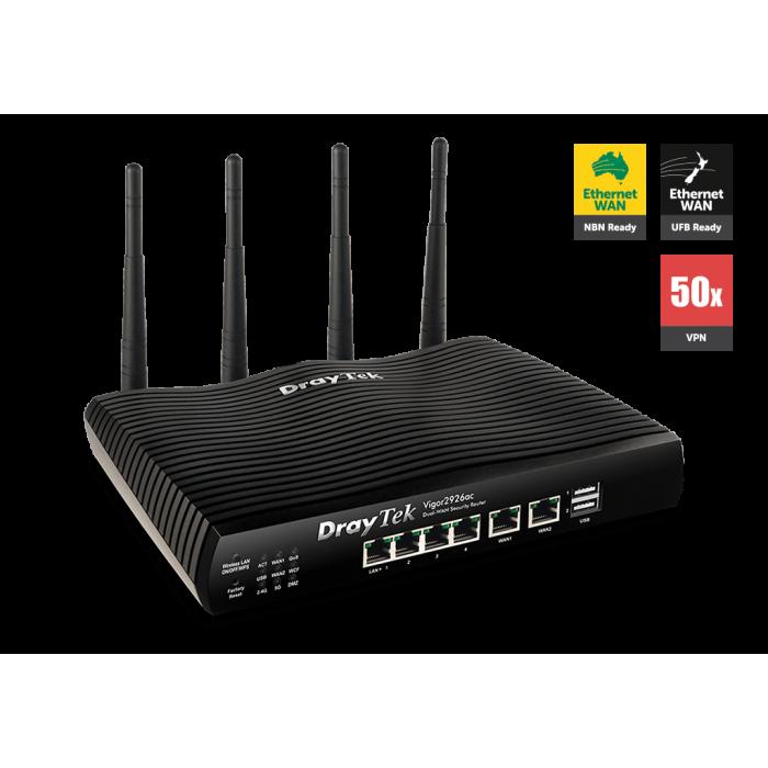 DrayTek Vigor 2926ac Dual WAN Gigabit broadband router