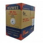 KUWES CAT 5E LAN SOLID CABLE 305M BOX GRAY