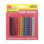 KUWES CABLE MARCKER MULTI-COLOUR (100PCS)