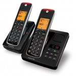 Motorola CD212 TWIN Cordless Telephone Black