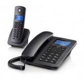 Motorola C4201 COMBO Corded And Cordless Telephone Black