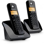 Motorola C402 TWIN Twin Cordless Telephone Black