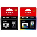 Canon 440xl Black and 441xl Color Ink Cartridge Set