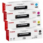 Canon 731 Laser Ink Toner 4 Color Set