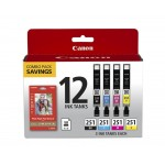 Canon Ink CLI-251 BKCMY 12 COLOR COMBO Ink Cartridge