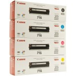 Canon 716 Toner Cartridge Set 4 Colors Black, cyan, magenta, yellow