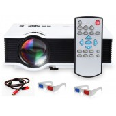 Unic LED HDMI 2 USB Portable Projector with 800 Lumens uc40